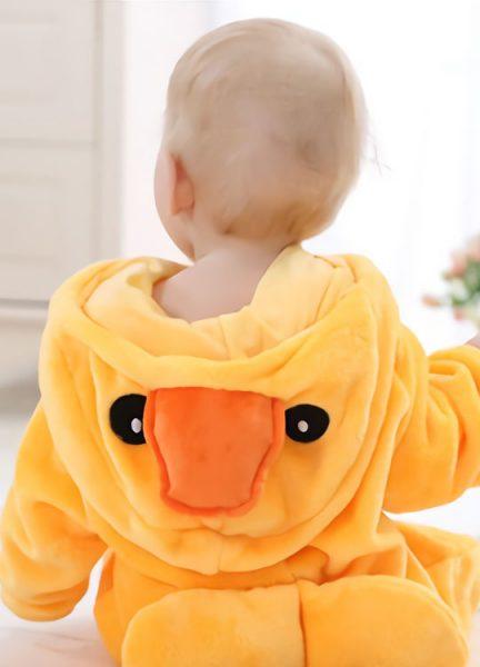 Pyjama Combinaison Bébé Canard Vue de Dos