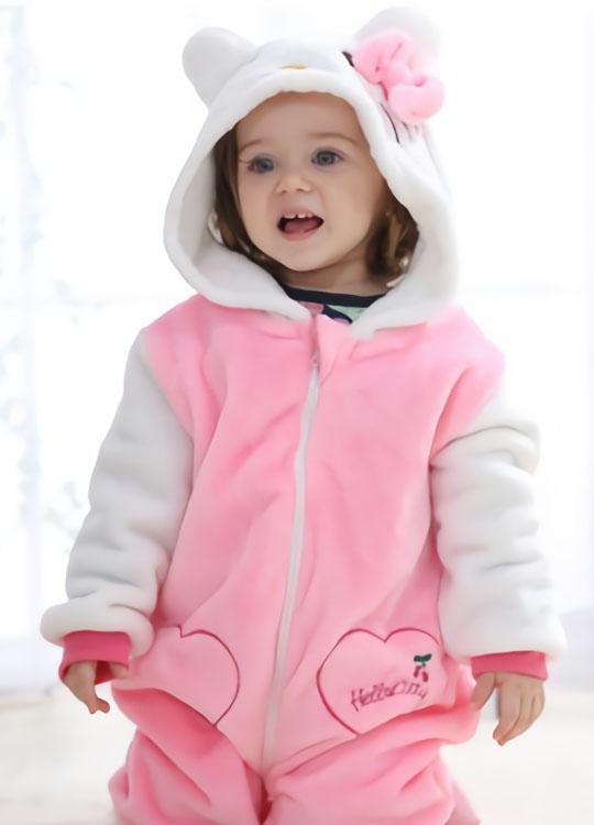 Pyjama Combinaison Bébé Rose 4