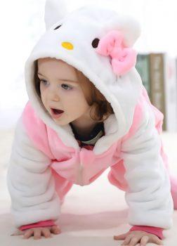 Pyjama Combinaison Bébé Rose