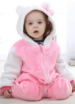 Pyjama Combinaison Bébé Rose 2
