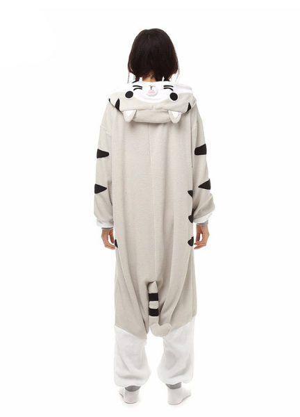 Pyjama Combinaison Chat Vue de Dos Sans Capuche