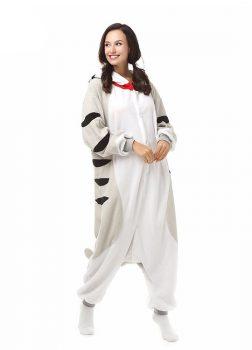 Pyjama Combinaison Chat Vue de Face