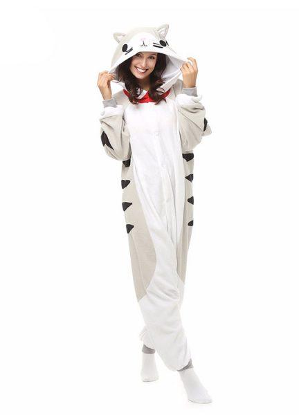 Pyjama Combinaison Chat Vue de Face Avec Capuche