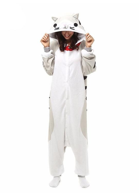 Pyjama Combinaison Chat Vue de Face Avec Capuche 3