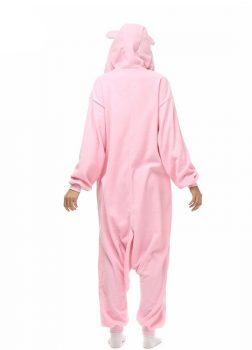 Pyjama Combinaison Cochon Vue De Dos Avec Capuche
