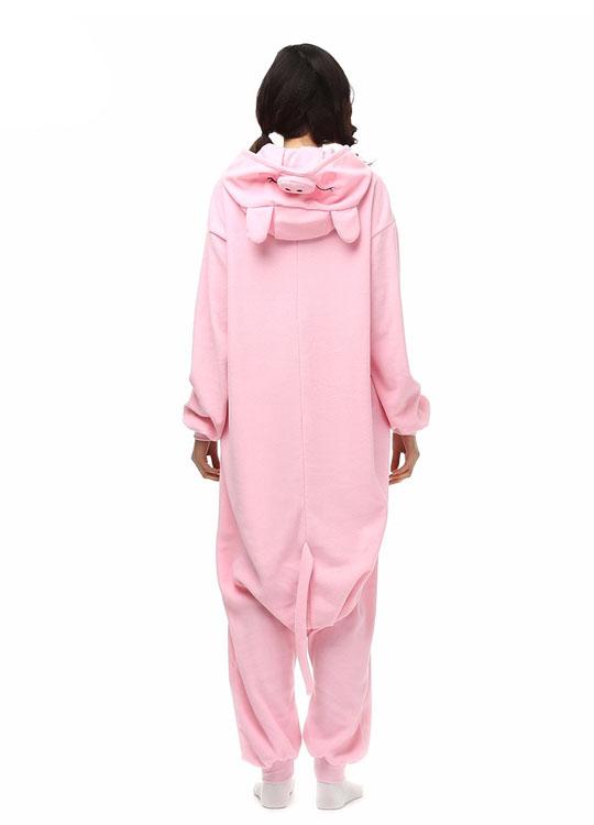 Pyjama Combinaison Cochon Vue De Dos