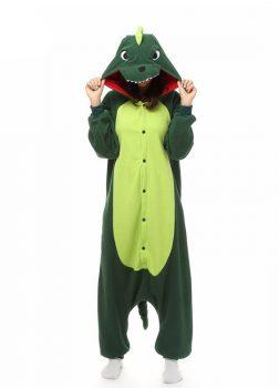 Pyjama Combinaison Dinosaure Vue De Face Avec Capuche 3