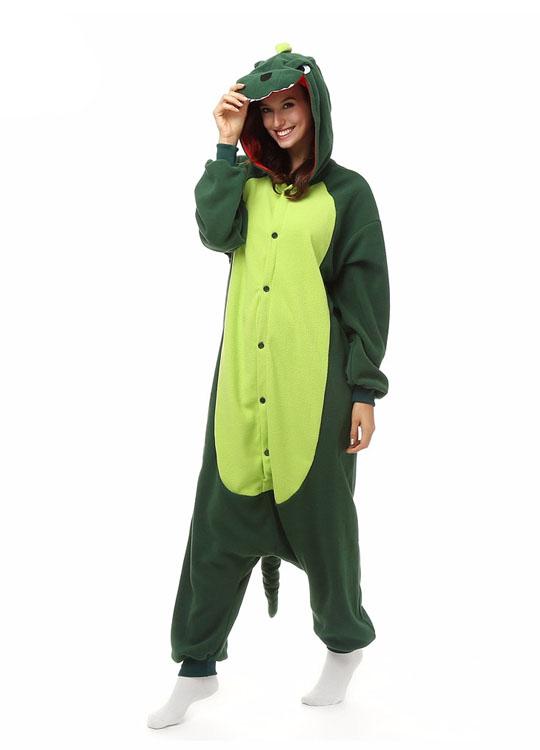 Pyjama Combinaison Dinosaure Vue De Face Avec Capuche 2