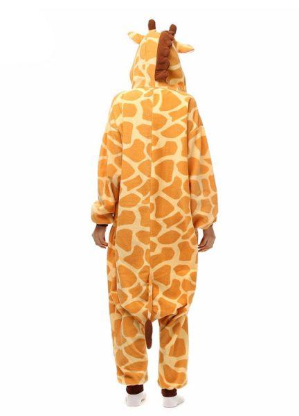 Pyjama Combinaison Girafe Vue De Dos Avec Capuche