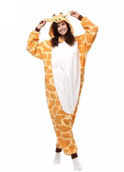 Pyjama Combinaison Girafe Vue De Face Avec Capuche 3