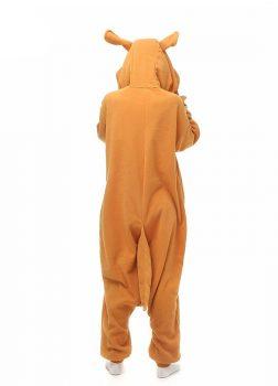 Pyjama Combinaison Kangourou Vue De Dos Avec Capuche