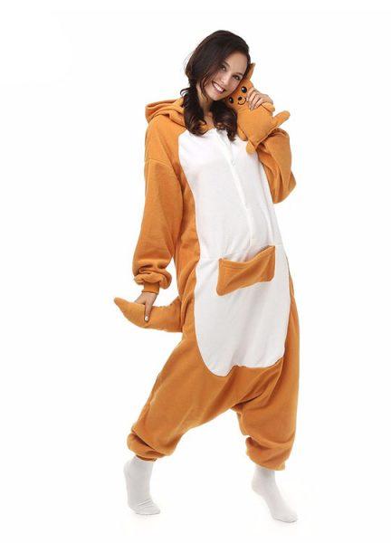 Pyjama Combinaison Kangourou Vue De Face Avec Capuche 3