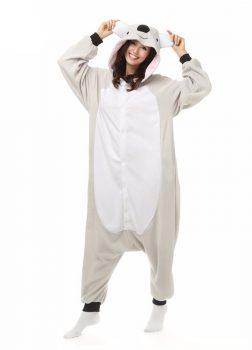 Pyjama Combinaison Koala Vue De Face Avec Capuche