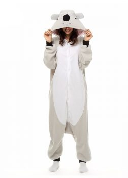 Pyjama Combinaison Koala Vue De Face Avec Capuche 3