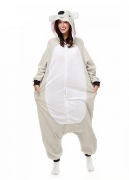 Pyjama Combinaison Koala Vue De Face Avec Capuche 2