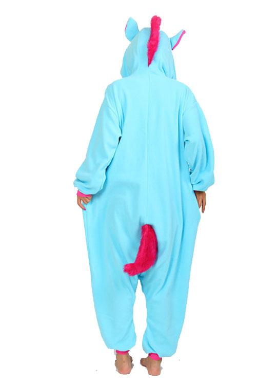 Pyjama Combinaison Licorne Bleu Vue de Dos