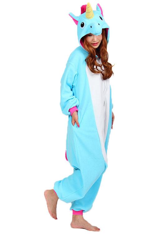 2017 Pas Cher Licorne ® Combinaison De Pyjama Kigurumi Bleu La He9YEIWD2