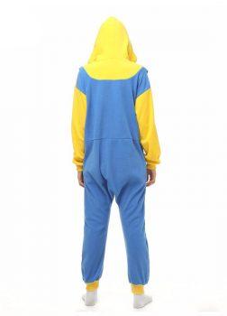 Pyjama Combinaison Minion Vue De Dos Avec Capuche