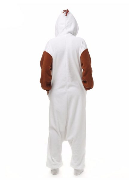 Pyjama Combinaison Olaf Vue De Dos Avec Capuche