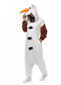 Pyjama Combinaison Olaf Vue De Face Avec Capuche 2