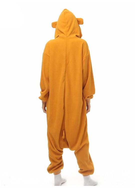 Pyjama Combinaison Ours Vue De Dos Avec Capuche