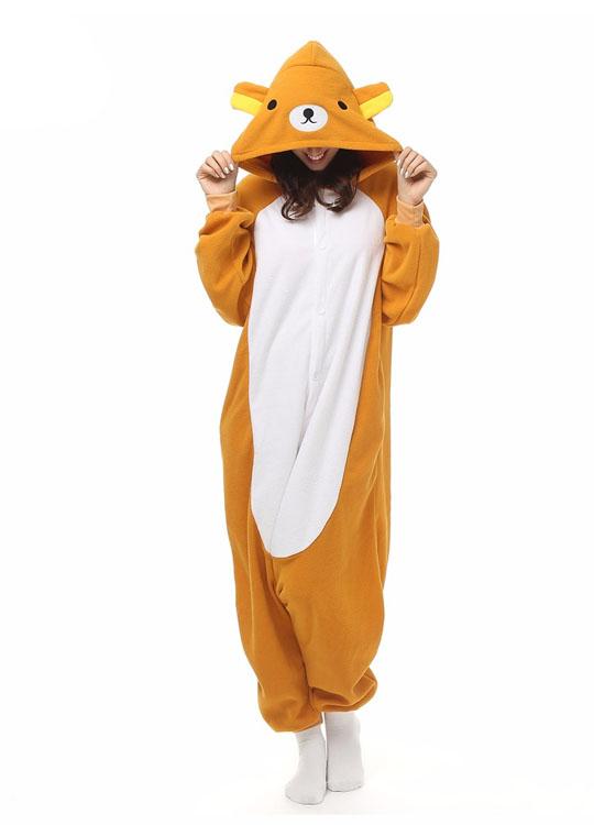 Pyjama Combinaison Ours Vue De Face Avec Capuche