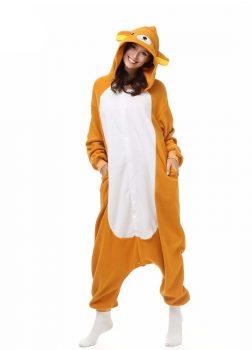 Pyjama Combinaison Ours Vue De Face Avec Capuche 3