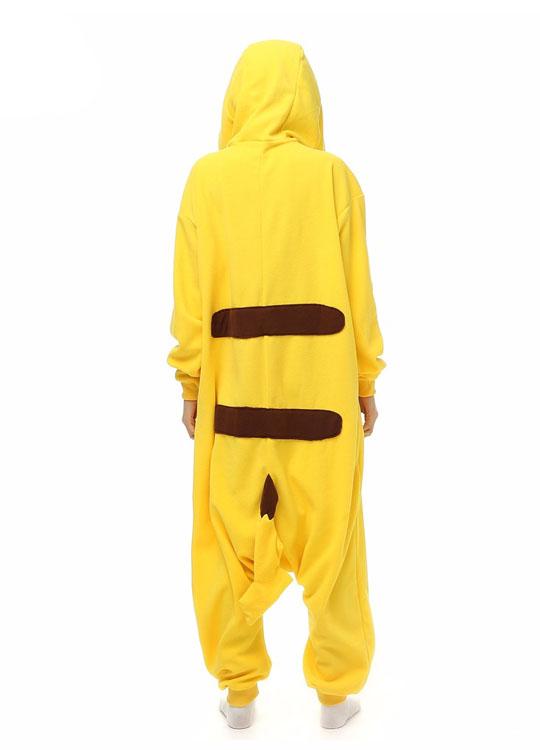 Pyjama Combinaison Pikachu Vue De Dos Avec Capuche