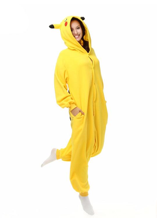 Pyjama Combinaison Pikachu Vue De Face Avec Capuche 3