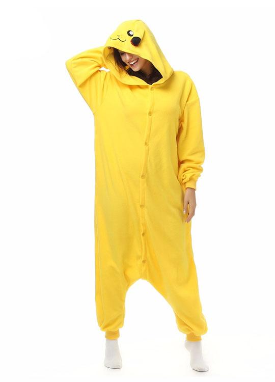 Pyjama Combinaison Pikachu Vue De Face Avec Capuche 2