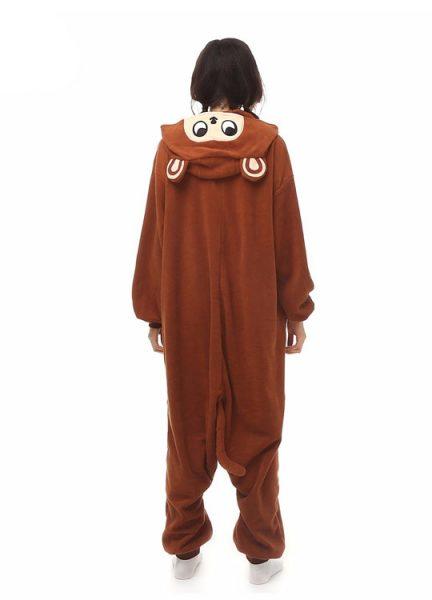 Pyjama Combinaison Singe Vue De Dos