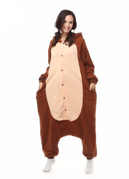 Pyjama Combinaison Singe Vue De Face