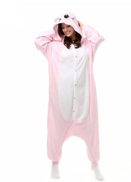 Pyjama Combinaison Souris Vue De Face Avec Capuche