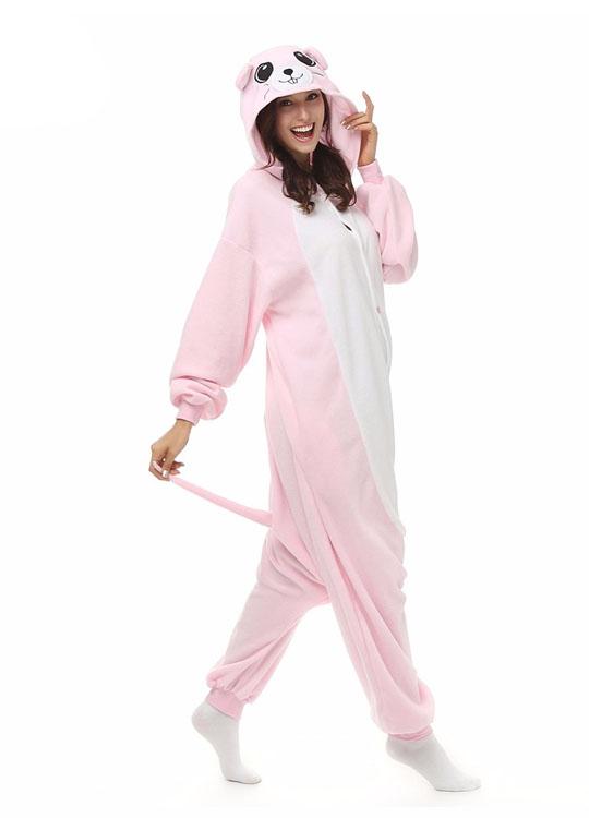 Pyjama Combinaison Souris Vue De Face Avec Capuche 2