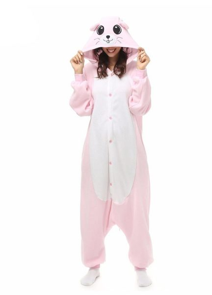 Pyjama Combinaison Souris Vue De Face Avec Capuche 3