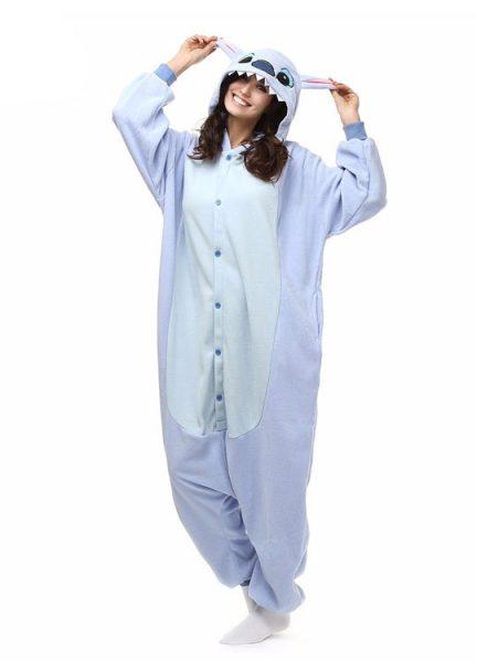 Pyjama Combinaison Stitch Vue De Face Avec Capuche 2