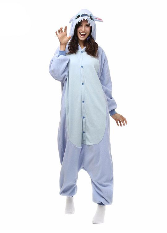 Pyjama Combinaison Stitch Vue De Face Avec Capuche 3