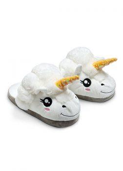 Pantoufles Licorne Blanc - Vue de Face