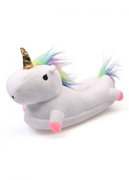Chausson Licorne Blanc - Face