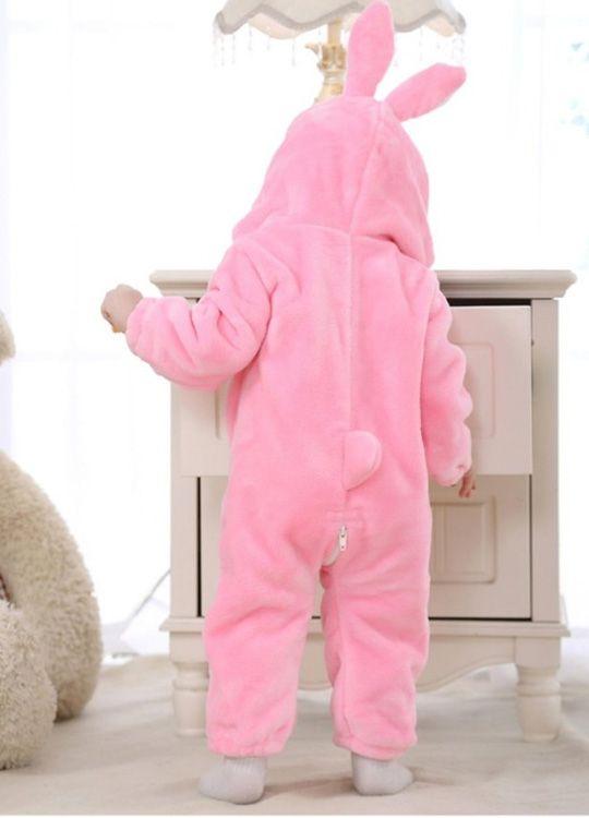 Pyjama Bebe Lapin Rose Vue De Dos
