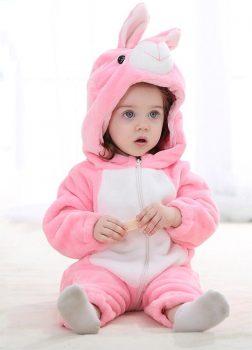 Pyjama Bebe Lapin Rose - Vue de face