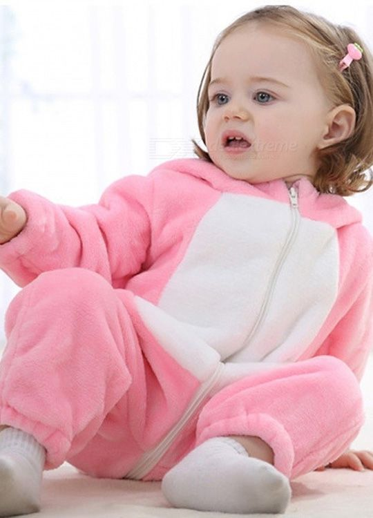 Pyjama Bebe Lapin Rose - Vue de face (détail 2)
