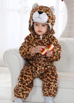 Pyjama Bébé Léopard - Vue de Face