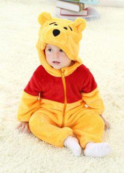 Pyjama Bébé Ourson - Vue de Face Détail