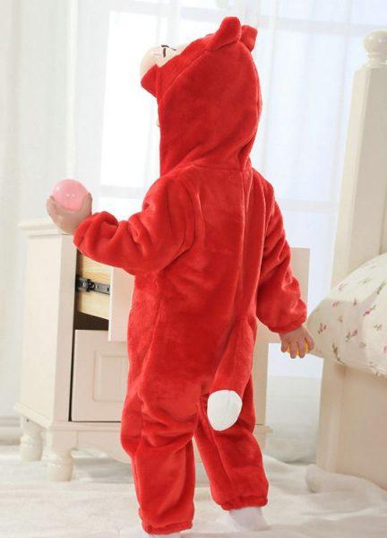Pyjama Bébé Renard Rouge - Vue de dos