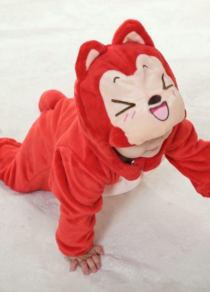 Pyjama Bébé Renard Rouge - Vue de Face 2