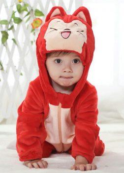 Pyjama Bébé Renard Rouge - Vue de Face
