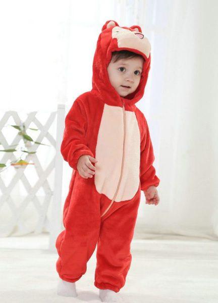 Pyjama Bébé Renard Rouge - Vue de Face Détail