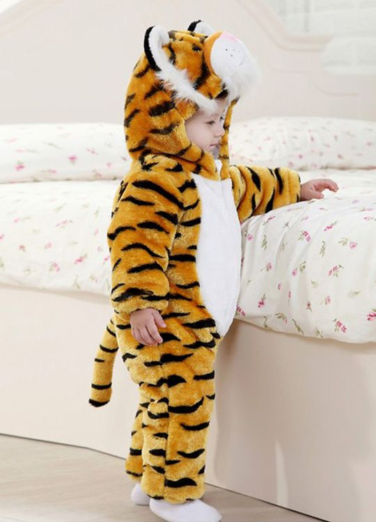 Pyjama Bébé Tigre - Vue de Coté