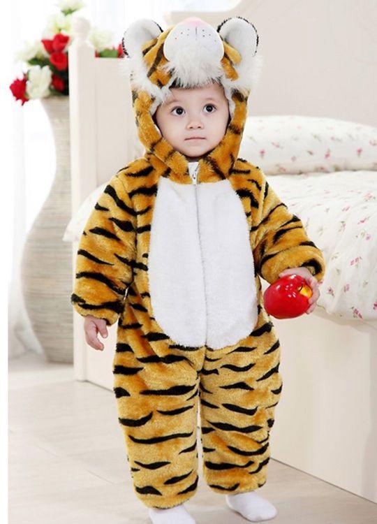 Pyjama Bébé Tigre - Vue de Face Détail